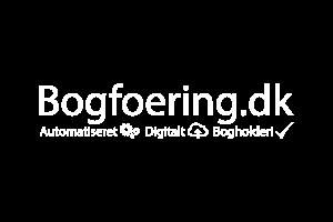Bogfoering.dk logo Hvid